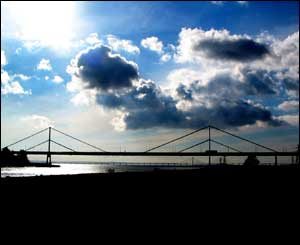 Wye Bridge with the New Severn Crossing in the background (Paul Woodward, from Chepstow)