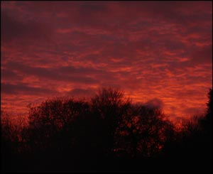 Mathew Foley from Cardiff took this shot of the sunset over Carmarthen