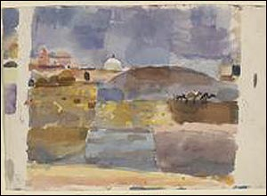 Before the Gates of Kairouan, 1914. Watercolour on paper. Courtesy of Zentrum Paul Klee