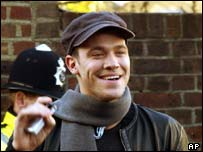 Will Young arrives at the studio to record Do They Know Its Christmas as part of Band Aid 20