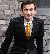 The new Doctor, actor David Tennant