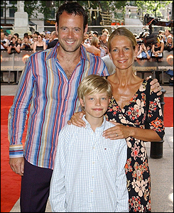 Ulrika Jonsson and Lance Gerrard-Wright with Jonsson's son Cameron