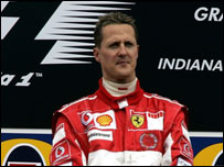 Schumacher on the podium