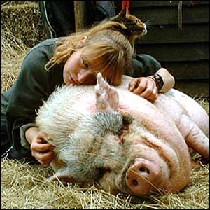 Fiona and her pig Bess