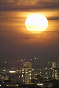 The full moon over London