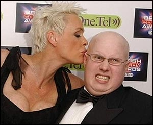 Bridget Nielson and Matt Lucas
