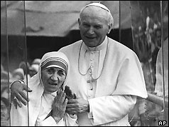 Pope and Mother Teresa - Calcutta 1986
