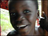 A child in Africa smiles