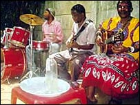 Africans playing music