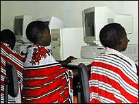 African children on the internet