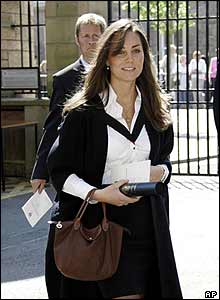 William's girlfriend, Kate Middleton, graduated from the university too
