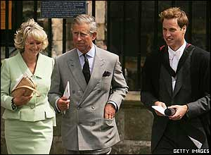 Prince Charles and Camilla turned up to see Wills graduate from St Andrew's University