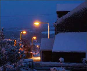 Pembroke Dock in the snow, sent by Dai