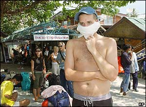 Swedish tourist on Phi Phi island