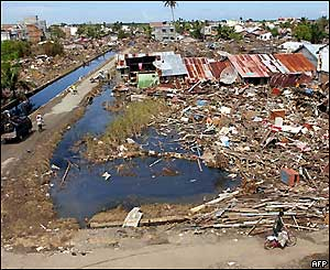 Tsunami wreaks havoc on Southeast Asia - Dec 26, 2004.