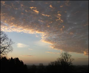 Dawn over the Severn Estuary, from Beechwood, Newport (Ronnie Sutcliffe)