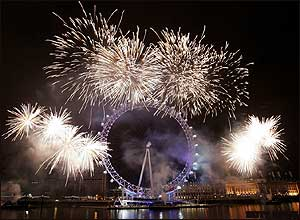 Fuegos artificiales en el centro de Londres.      Gareth Cattermole/Getty Images