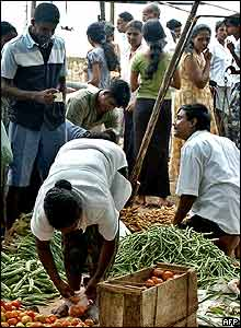 Market in Kogalla, south-western Sri Lanka