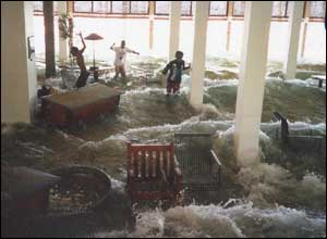 Water flooding hotel