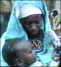A mourning Somali mother and child