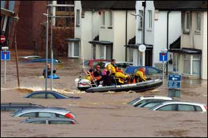 Carlisle was completely cut off today as severe flooding forced the closure of all routes into the city.