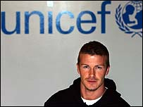 David Beckham is in a Unicef tsunami advert