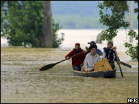 Victims of the flood in Romania
