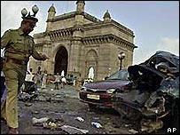 Aftermath of terrorist attack on Bombay
