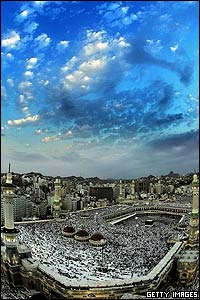 The Hajj takes place over five days and gives Muslims from across the world a chance to worship together.