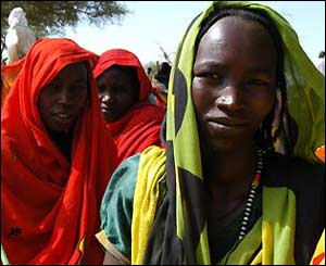 These Muslim women are in Sudan, Africa. Islam is the biggest religion there