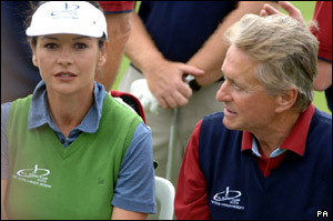 Catherine Zeta Jones and Michael Douglas.