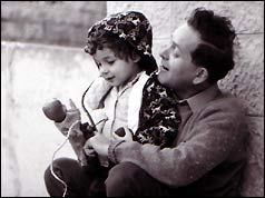 Yehuda with his daughter Hanna in 1968