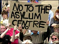 Protest against an Asylum Centre in Worcestershire
