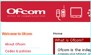 Image from the Ofcom website www.ofcom.org.uk