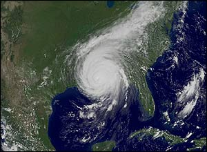This satellite pic shows the huge storm. It was a category five, the strongest type of hurricane
