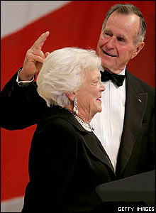 George HW Bush and wife, Barbara