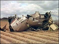 The wreckage of the DC-9