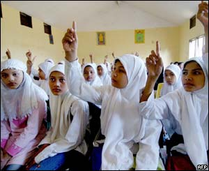 Children in a school in Banda Aceh, 26 Jan