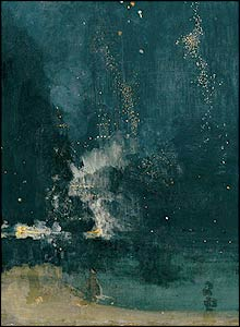 Whistler Falling Rocket, at Tate Britain