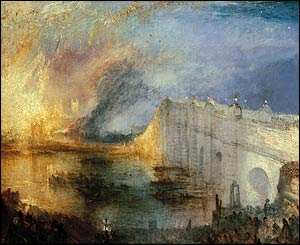 Turner - Burning of the House of Lords, at Tate Britain