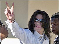 Michael Jackson has arrived at a court in the US
