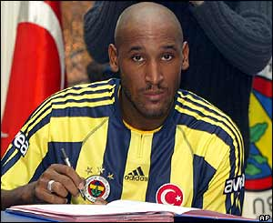 Nicolas Anelka completes his �7m move from Manchester City to Fenerbahce