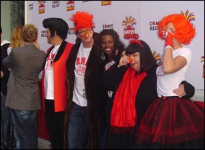 Celebs including June Sarpong, Davina McCall, Chris Evans and Dawn French turned up to launch Comic Relief's Red Nose Day 2005.