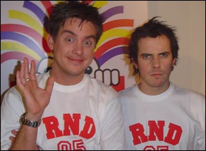 Dick and Dom are getting stuck in.  Dom thinks Dick should do a sponsored silence to raise some cash!