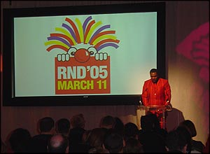 Lenny Henry and the other celebs involved gave presentations about Red Nose Day which is taking place on 11 March.