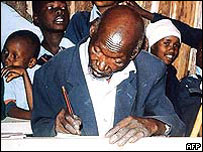 Kimani Nganga Maruge, the world's oldest school pupil