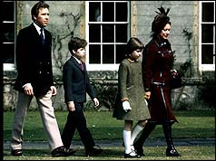 Princess Margaret with her husband and children in happier times, 1973