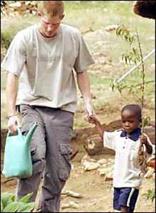 Harry promised to continue the work of his mother when he helped Aids orphans on his gap year in Africa.
