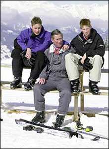 ... but soon relaxed in front of the cameras, like here in Klosters in Switzerland