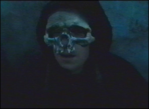 But the trailer soon turns dark, as a Death Eater Apparates out of a black cloud